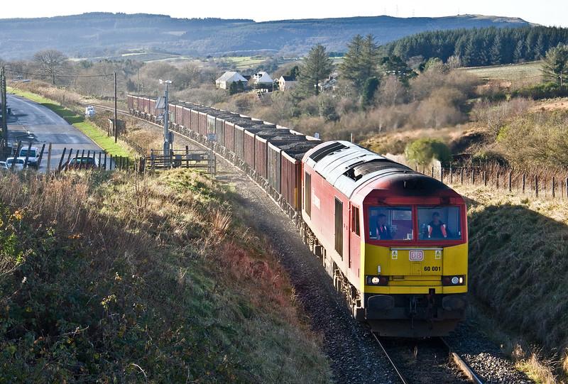 60001, 10.54 Swansea Burrows-Onllwyn Washery, Pantyfford, Seven Sisters, 29-11-17.
