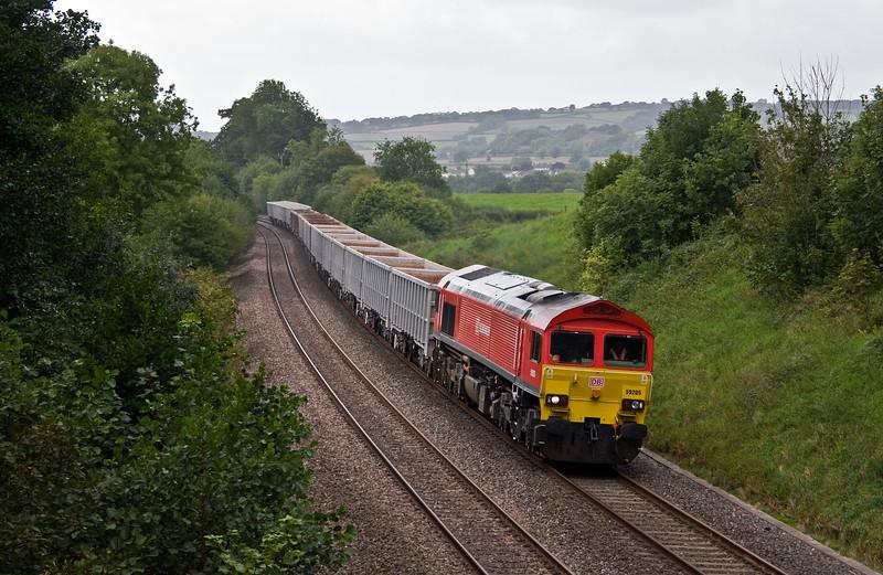 59205, 13.44 Exeter Riverside Yard-Whatley Quarry, Whiteball, 6-9-17.