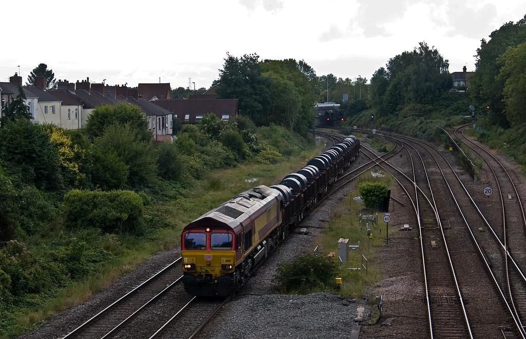 66117, 13.58 Margam-Llanwern, Gaer Junction, Newport, 19-9-17.