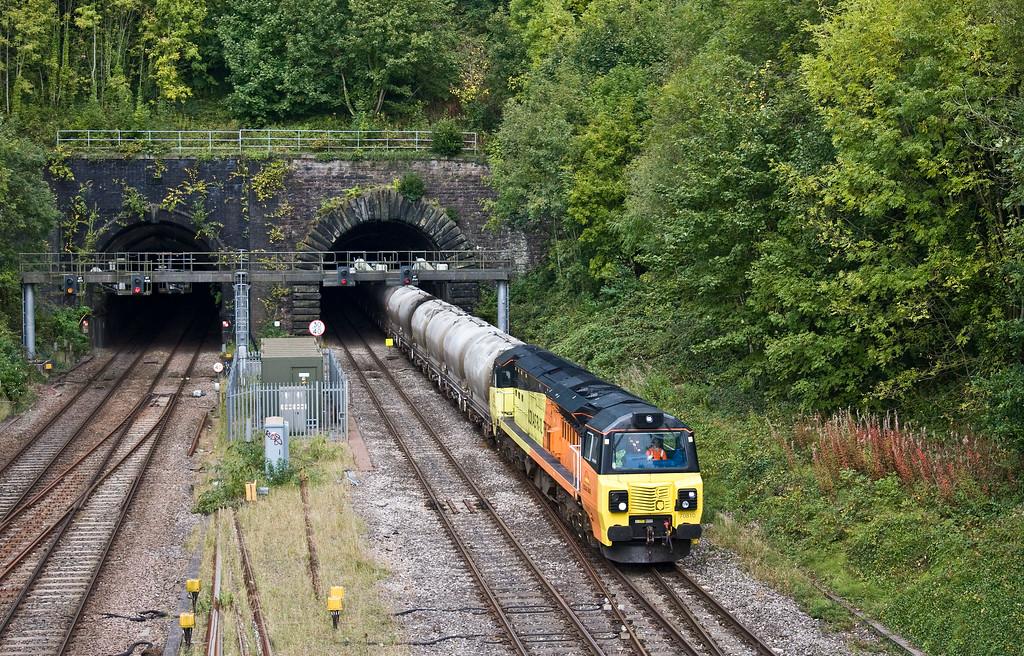70810, 12.37 Westbury-Aberthaw Cement Works, Gaer Junction, Newport, 19-9-17.