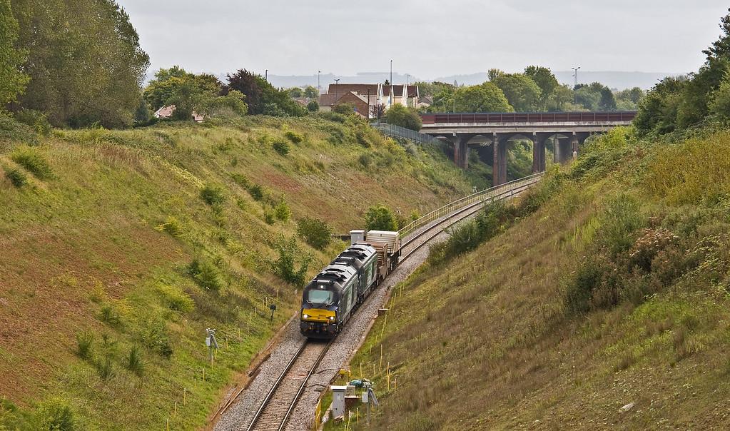 68003/68018, 10.57 Bridgwater Flask Depot-Crewe Coal Sidings, Patchway, Bristol, 7-9-17.
