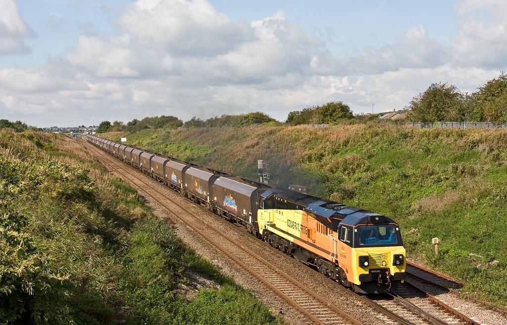 70809, 09.30 Aberthaw Power Station-Avonmouth Bulk Handling Terminal, Caldicot, 19-9-17.