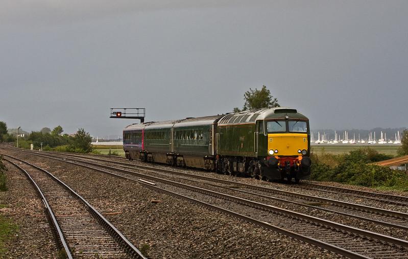 57604, 17.50 Exeter St David's-Penzance, Dawlish Warren,  9-9-17 (late).