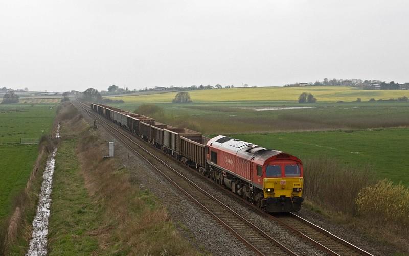 59202, 13.44 Exeter Riverside Yard-Whatley Quarry, Oath, near Langport, 13-4-18.