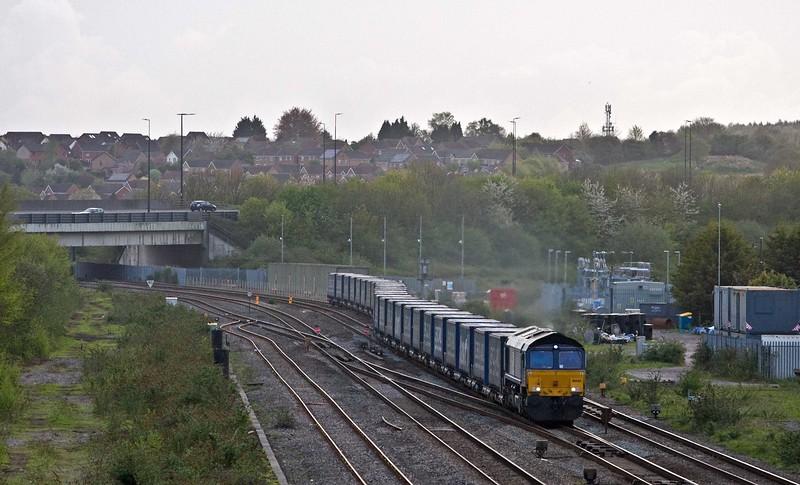 66425, 18.58 Cardiff Wentloog-Daventry RFT, Severn Tunnel Junction, 26-4-18.
