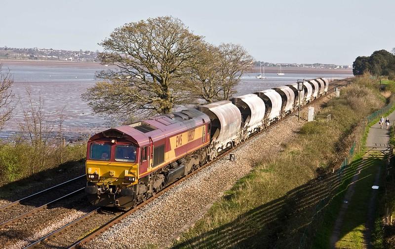 66037, 15.06 St Blazey-Exeter Riverside Yard, Powderham, near Exeter, 19-4-18.