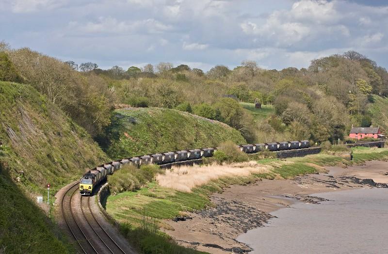70805, 11.00 Leeds Stourton RMC-Briton Ferry Yard, Purton, near Lydney, 26-4-18.