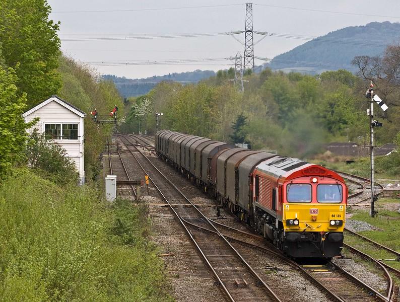 66135, diverted 12.12 Margam Yard-Middlesbrough Dawson Ayrton, Abergavenny, 29-4-18.