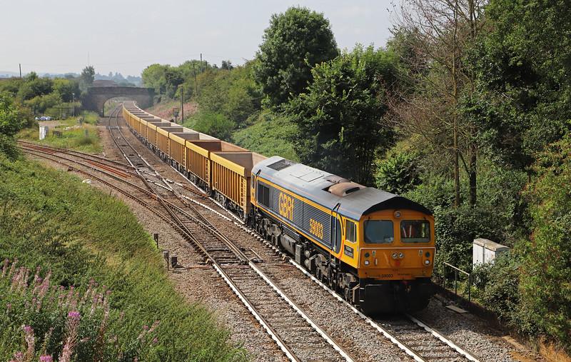 59003, 11.56 Westbury Yard-Cliffe Hill Stud Farm, Hawkeridge Junction, Westbury, 6-8-18.