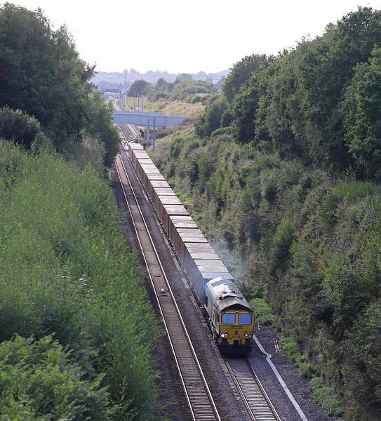 66552, 16.26 Cardiff Wentloog-Tilbury International Rail Freight Terminal, Caldicot, 29-8-18.