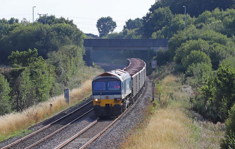 59103, 17.05 Merehead Quarry-London Acton Yard, Berkley Lane, Berkley, near Frome, 6-8-18.