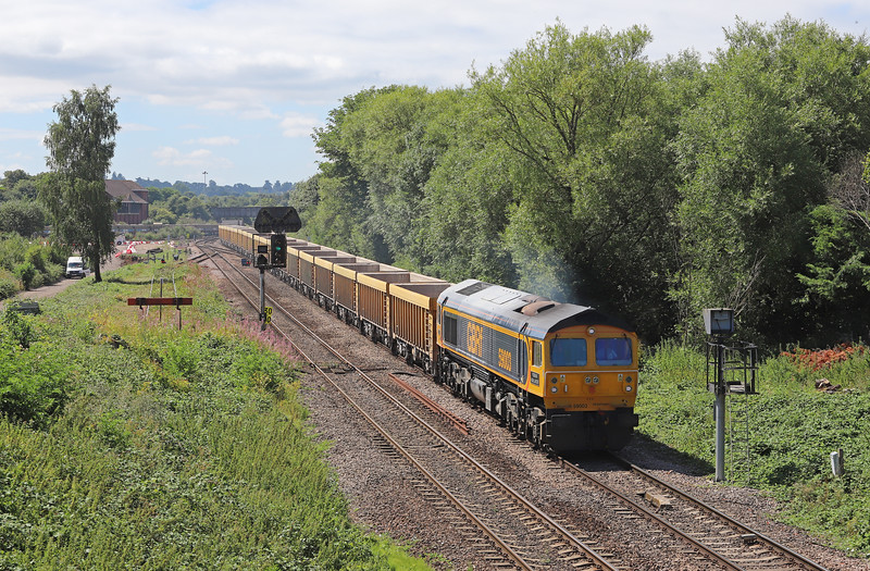 59003, 12.18 Westbury Yard-Cliffe Hill Stud Farm, Hawkeridge Junction, Westbury, 2-8-16. Heavily delayed at Bradford Junction.
