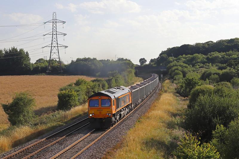 66723, 16.43 Whatley Quarry-Wellingborough,, Berkley Lane, Berkley, near Frome, 6-8-18. 65 late.