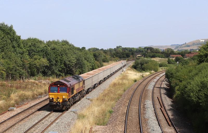 66014, 11.56 Fareham-Whatley Quarry, Fairwood Junction, Westbury, 6-8-18.