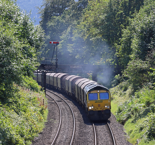 66571, 10.29 Margam-Dee Marsh, via Llanwern, Abergavenny, 29-8-18.