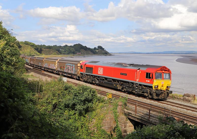66066, 13.04 Burton-on-Trent-Cardiff Tidal Yard, Purton, near Lydney, 29-8-18.
