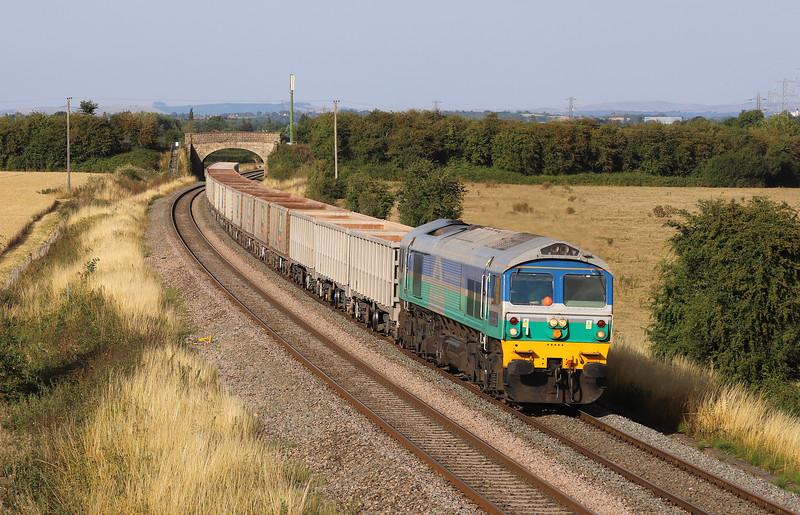 59005, 13.44 Exeter Riverside Yard-Whatley Quarry, Berkley Lane, Berkley, near Frome, 6-8-18.