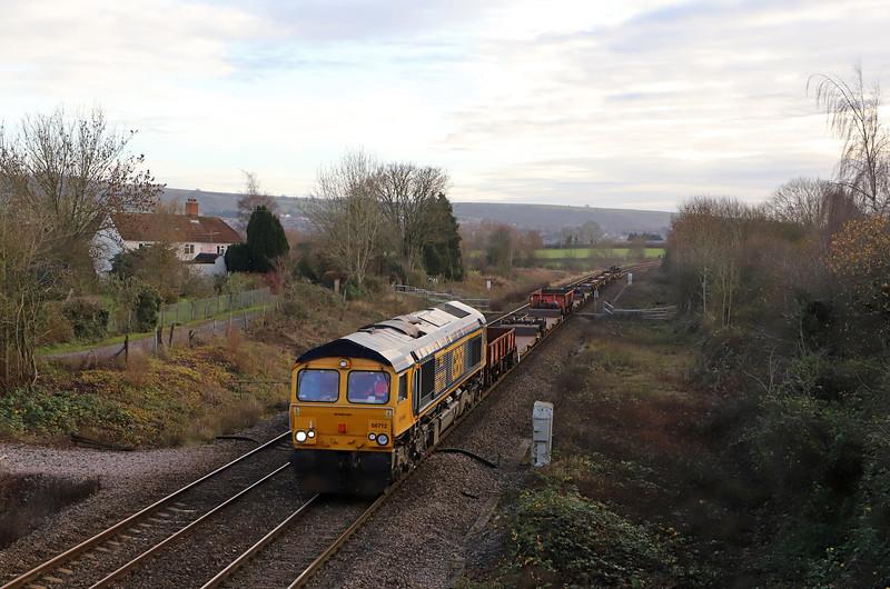 66712, 12.18 Marchwood MoD-Bicester MoD, Heywood, near Westbury, 10-12-18.