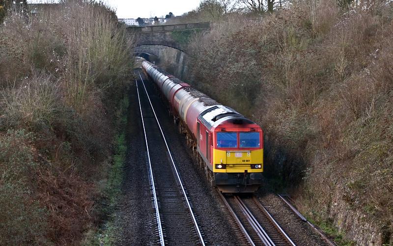 60001, 05.00 Robeston Sidings-Westerleigh Murco, Sedbury Lane, Chepstow, 2-2-18.