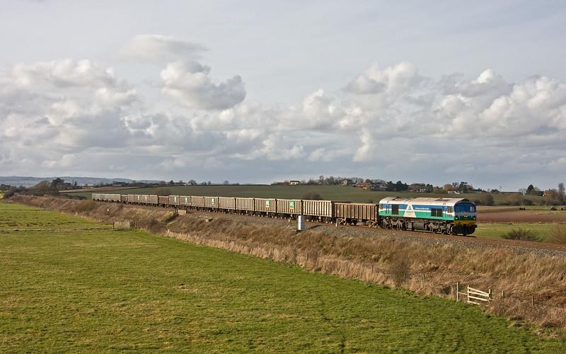 59005, 13.4 Exeter Riverside Yard-Whatley Quarry, Oath, near Langport, 16-2-18.