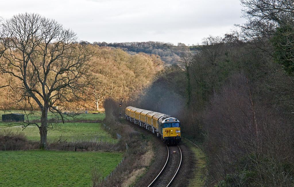 50008, 08.00 Derby RTC-Okehampton, Newbridge Cross, near Exeter, 5-1-18.