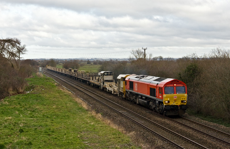66192, 08.20 Pilning-Westbury Yard, via Taunton Fairwater Yard, Bankland, near Durston, 7-1-18.