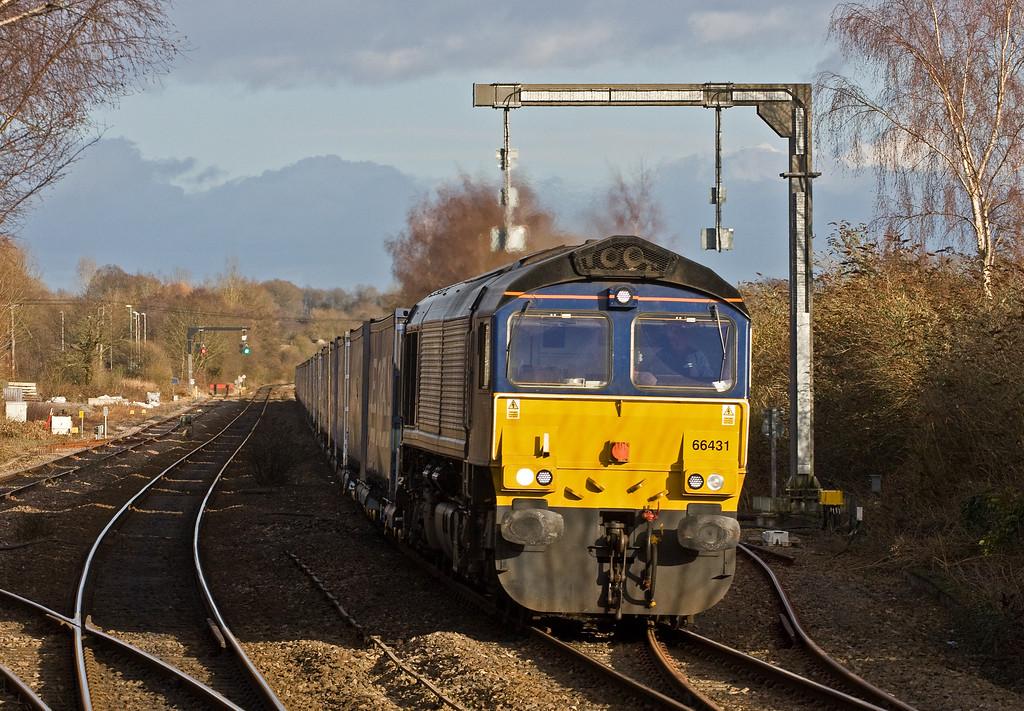 66431, 10.47 Daventry Railfreight Terminal-Cardiff Wentloog, Lydney, 19-1-18.