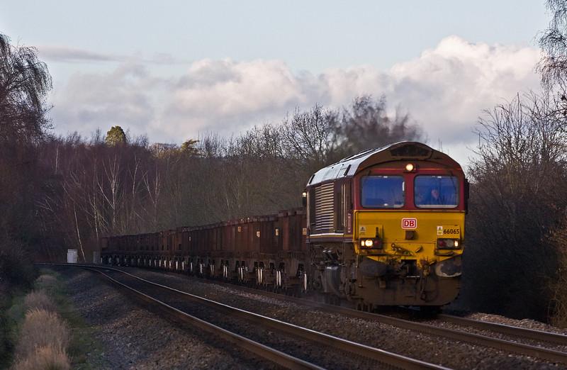 66065, 10.22 Corby-Margam, Bullo Pill, near Newnham, 19-1-18.