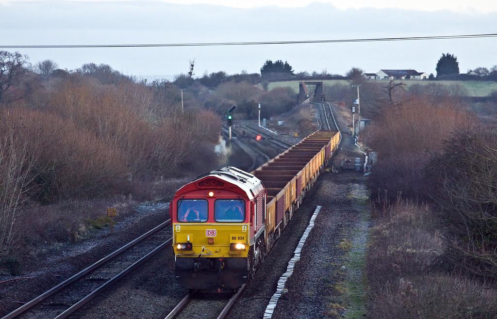66034, 06.00 Bristol East Junction-Westbury Yard, via Taunton Fairwater Yard, Cogload Junction, 7-1-18.