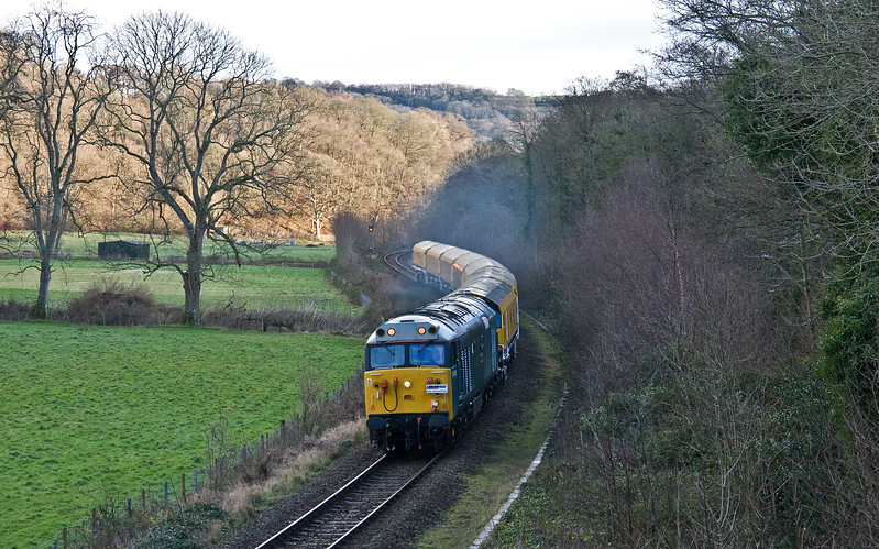 50008, 08.00 Derby RTC-Okehampton, Newbridge Cross, near Exeter, 5-1-18.