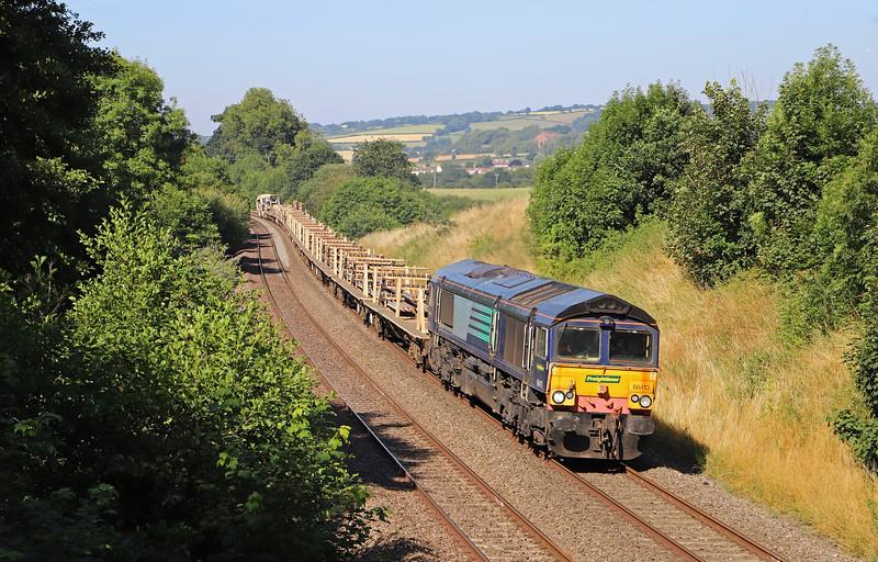 66413, 08.15 Plymouth Laira Junction-Westbury, via Bristol, Whiteball, 8-7-18.