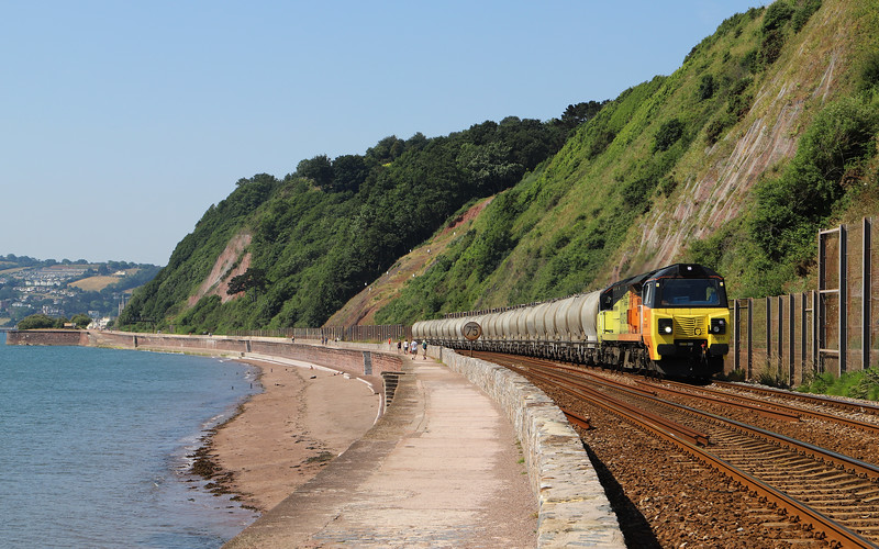 70810, 08.00 Moorswater Lafarge-Aberthaw Cement Works, Holcombe, Teignmouth, 6-7-18.