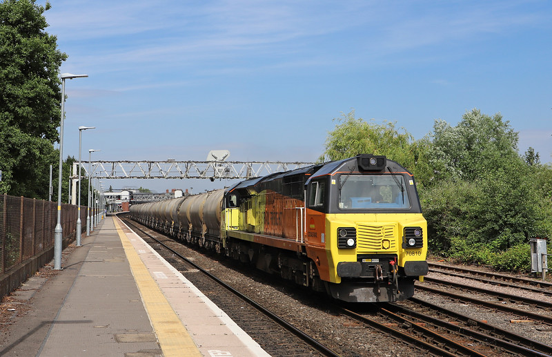70810, 05.15 Aberthaw Cement Works-Moorswater Lafarge, Gloucester, 4-7-18. 226min late.