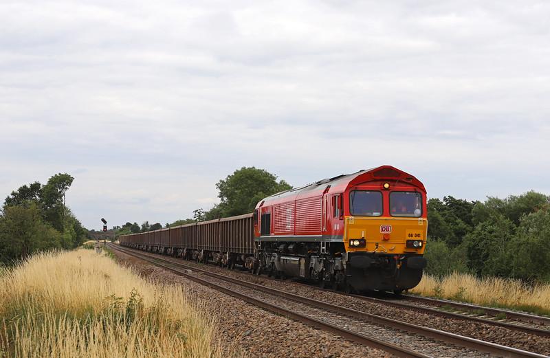 66041, 12.25 Avonmouth Hanson's Sidings-Whatley Quarry, Rudge. near Westbury, 17-7-18. 84min late.