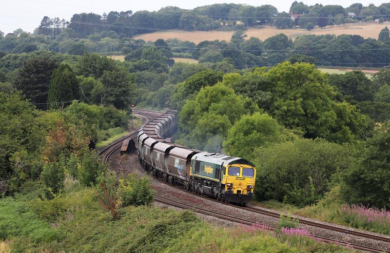 66526, 12.25 Margam Yard-York Holgate Sidings, St George's, near Cardiff, 26-7-18.