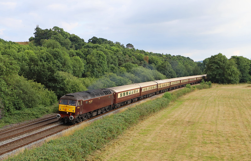 47832/57314, top'n'tail 17.15 Par-Cardiff Central, Northern Belle, Cullompton, 14-7-18.