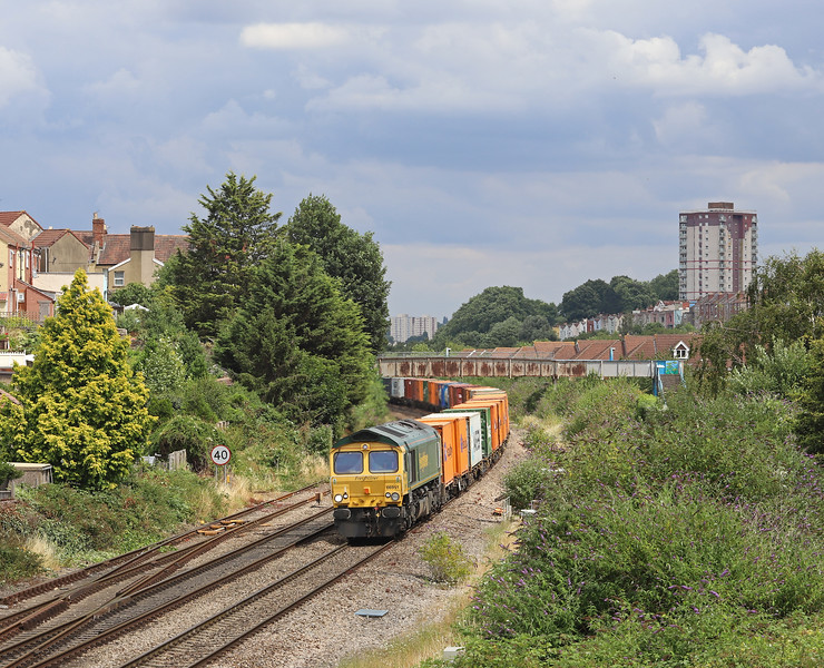 66951, 07.53 London Gateway Freightliner Terminal-Bristol Freightliner Terminal, Parson Street, Bristol, 17-7-18.