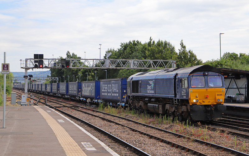 66305, 10.47 Daventry Railfreight Terminal-Cardiff Wentloog,<br /> Gloucester, 4-7-18.