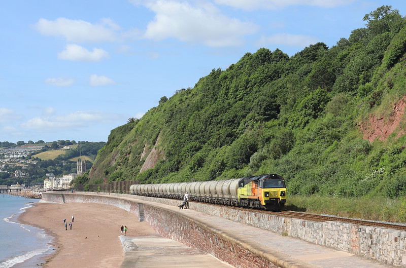 70806, 08.00 Moorswater Lafarge-Aberthaw Cement Works, Sprey Point, Teignmouth, 21-6-18.