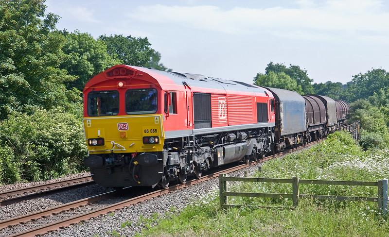66065, 11.52 Margam-Round Oak, Bullo Pill, near Newnham-on-Severn, 6-6-18.