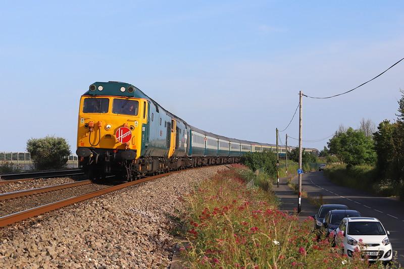 50007/50049, 16.07 Penzance-Tame Bridge Parkway, Mazey Day Cornishman, Cockwood, near SAtarcross, 23-6-18.