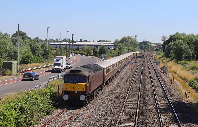 47832/47826, top'n'tail 05.05 Crewe-Minehead, via Newport and Gloucester, Exmoor Coast Statesman, Norton Fitzwarren, 30-6-18.