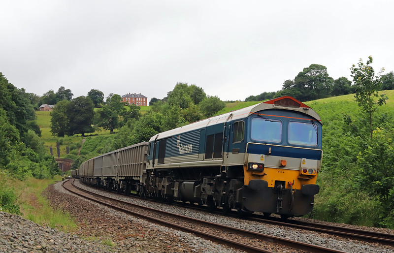 59103, 13.44 Exeter Riverside Yard-Whatley Quarry, Marlands, near Wellington, 20-6-18.