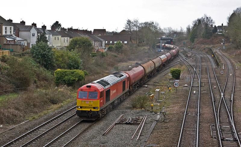 60001, 05.00 Robeston Sidings-Westerleigh Murco,  Gaer Junction, Newport, 23-3-18.