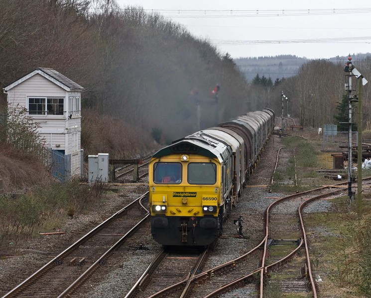 66590, 10.29 Margam-Dee Marsh, via Llanwern, Abergavenny, 23-3-18.