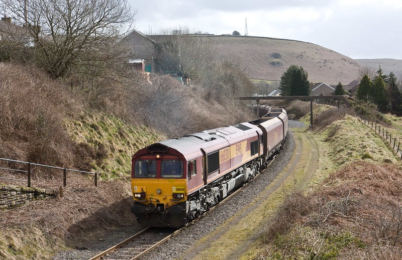 66030, 23.58 Hope (Earles Sidings)-Cwmbargoed Opencast Colliery, Bedlinog, 23-3-18.