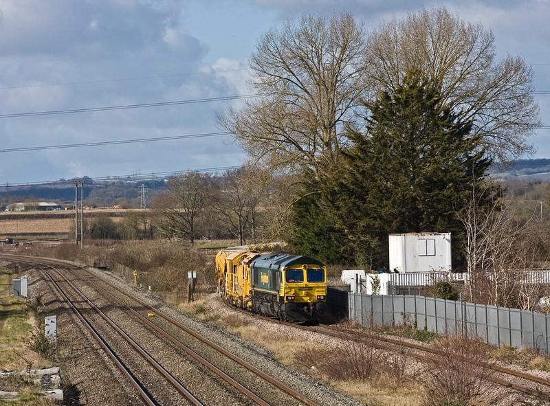 66511/66598, 10.25 Taunton Fairwater Yard-Bishops Lydeard, Norton Fitzwarren, near Taunton, 8-3-18.