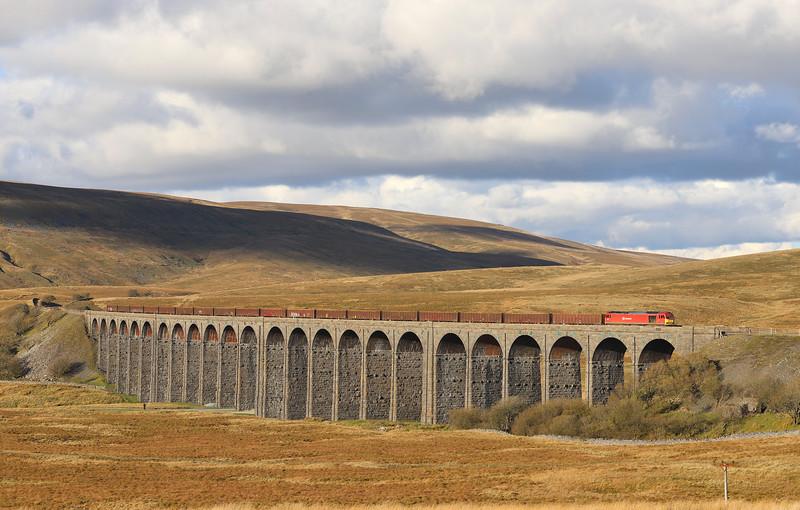 60063, 13.20 Newbiggin-Milford Sidings, Ribblehead Viaduct, 1-11-18.