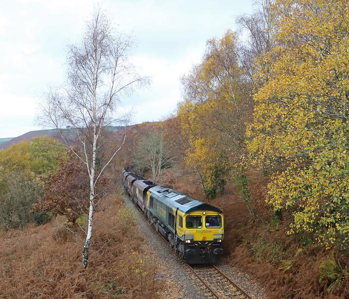 66528, 10.39 Cwmbargoed Opencast Colliery-Port Talbot Grange Sidings, Trelewis, near Nelson, 13-11-18.