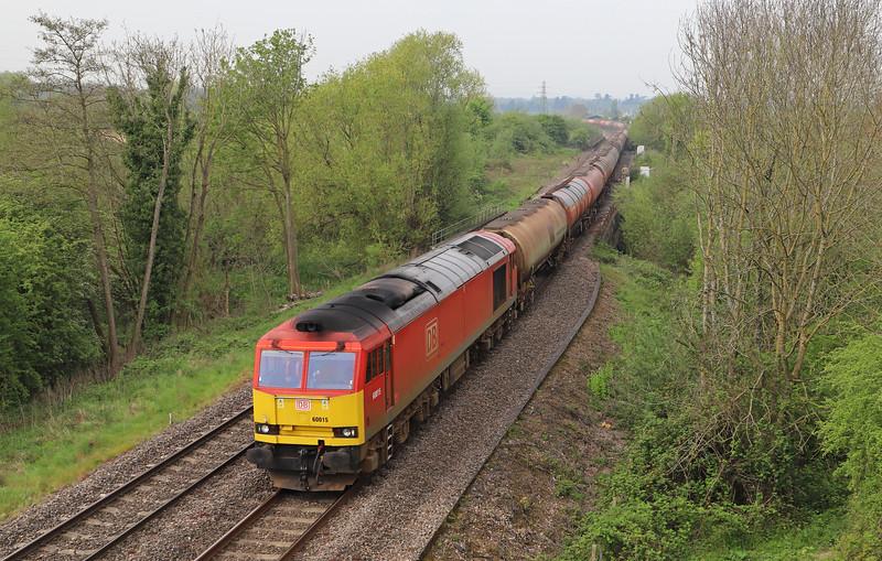 60015, 05.00 Robeston Sidings-Westerleigh, Over Junction, near Gloucester, 23-4-19.